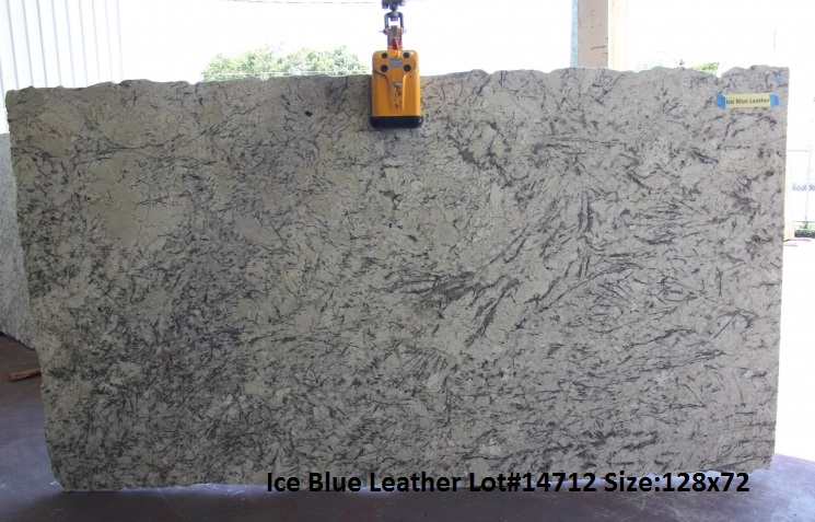 Ice Blue Leather